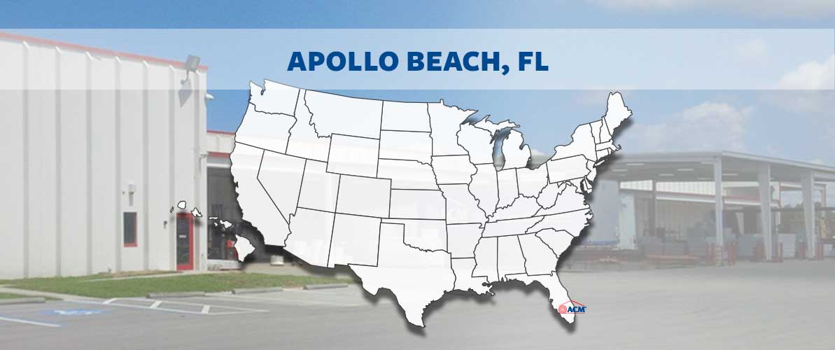 ACM Apollo Beach, FL region map and factory
