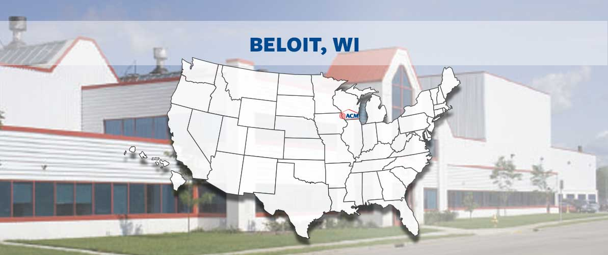 ACM Beloit, WI, territory map and building