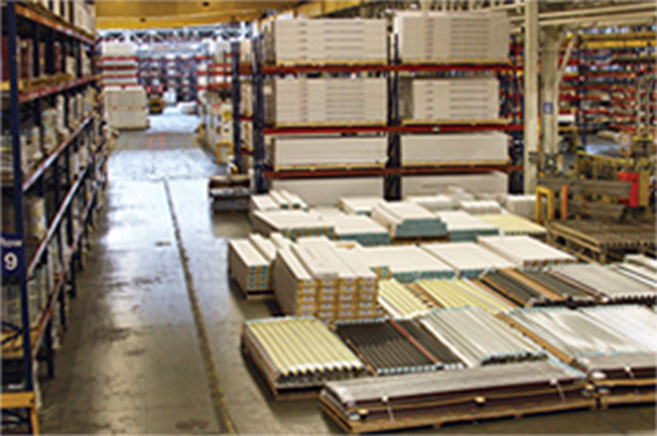 ACM's large inventory in warehouse